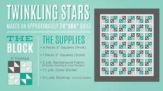 Twinkling Stars Quilt Tutorial