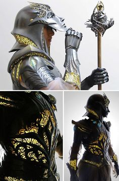 High Fantasy Armor Set : Damnthatsinteresting Source by ideas fantasy Medieval Combat, Medieval Armor, Medieval Fantasy, Armadura Medieval, Fantasy Magic, Fantasy Armor, High Fantasy Books, Costume Armour, Armor Clothing