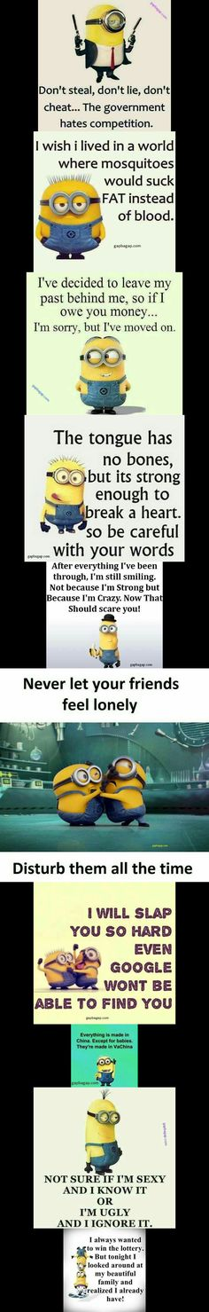 Top 10 #Funny #Qoutes By The #Minions