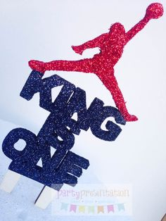 Personalize Wording Cake Topper for your themed event. Topper is made ...