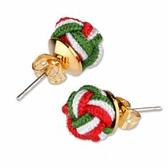PAUL HEWITT Knotearrings Pendientes Verde-Blanco-Rojo Jewelry Accessories, Christmas Ornaments, Holiday Decor, Green Earrings, White People, Jewelry Findings, Christmas Jewelry, Christmas Decorations, Christmas Decor