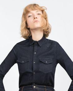 Image 2 of DENIM SHIRT from Zara