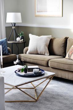 Cozy living room inspo feat Black Rooster Decor's Galaxy Coffee Table.