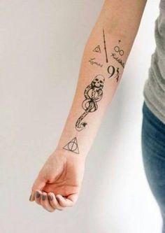 Resultado de imagem para tatuagem harry potter