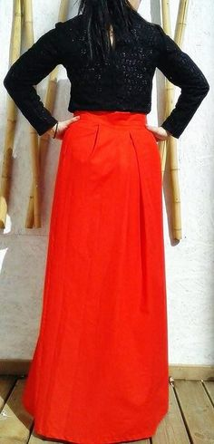 Skirts - LONG SKIRT WITH OPENING ON THE SIDE - Women Clothing - DR Collection