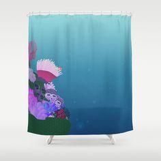 ocean view Shower Curtain by studiomarshallarts -  finding nemo pixar disney $68.00