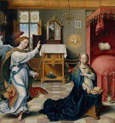 The Annunciation. Joos van Cleve (Netherlandish, Cleve ca. 1485–1540/41 Antwerp). Date: ca. 1525.