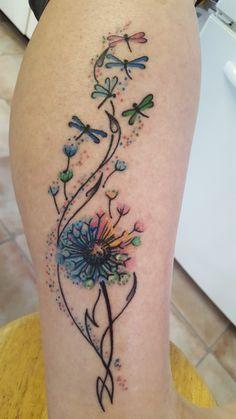 low back tattoo – foot tattoos for women flowers Tattoo Designs, Dragonfly Tattoo Design, Watercolor Dragonfly Tattoo, Watercolor Tattoos, Wrist Tattoos Girls, Tattoos For Women, Tattoos For Daughters, Sister Tattoos, Pretty Tattoos
