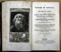 Het romantisme van Musset werd gevoed door de ideeën van Mcphersons' Ossian (1760)