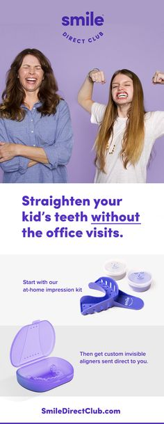 Use SmileDirectClub and straighten your teen's teeth, for 60% less than braces, with invisible aligners sent directly to you. No more paying a fortune.