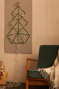 Bring holiday magic to your space with a bright holiday DIY. It's a modern take on a traditional tree. You'll need some twinkly lights to begin. Find out how to make this and other DIYs to start sharing joy! Feel Joy. Feel Glade.