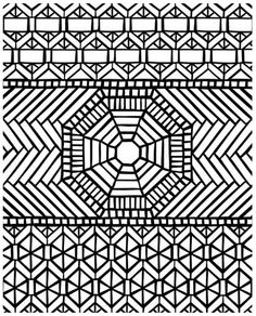 mosaic coloring page for grown ups