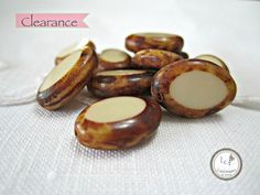 1 Year Anniversary Sale, 5/8 - 5/11! CLEARANCE MARKED DOWN FROM $2.25/$2.05  Beautiful picasso oval shaped cream colored Czech glass beads.  Quantity: 10   Size: 17x12mm  ITEM#: 2O-V2-14    Please stop by my o... #supplies #bead