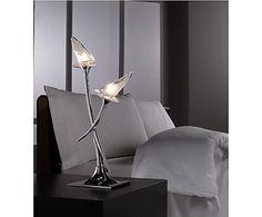 lmpara de sobremesa de metal y vidrio luces flavia plateado