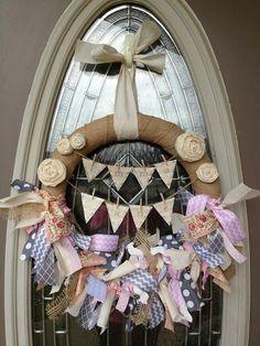 Vintage Baby Wreath Hospital Door Hanger Nursery by AmyLeighWyatt