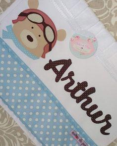 Urso Aviador para o Arthur! Para Costurices e Fofurices Atendimento SOMENTE Inbox ou Via Whatsapp 31 989194881 Atelier Sabor de Pano ❤…