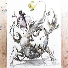 """""""SCORPIO"""" 23 Oct - 21 Nov Water Sign Ruled by Pluto What do you think? #watercolour #watercolor #art #artwork #illust -"""