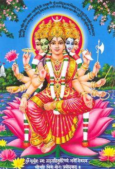 Goddess Gayathri Devi - Gayatri Mantra