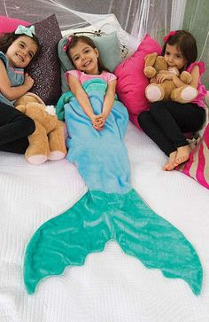 Mermaid Blanket by Blankie Tails - Blue and Aqua from blankietails - I NEED THIS IN ADULT SIZE!