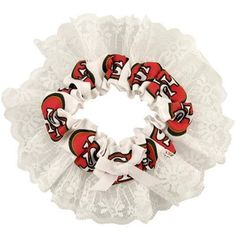 San Francisco 49ers Scarlet and White Garter with Lace