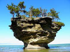 Turnip Rock in Lake Huron near Port Austin, Michigan Oh The Places You'll Go, Places To Travel, Places To Visit, Autocad, Wonderful Places, Beautiful Places, Lake Huron, Great Lakes, Natural Wonders