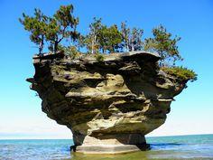 Turnip Rock on Lake Huron. Port Austin, Michigan
