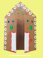 Gingerbread House Card  Free download on HeidiSongs blog!  http://heidisongs.blogspot.com/