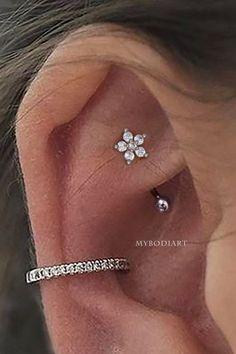 Rook Piercing Jewelry, Rook Jewelry, Ear Piercings Rook, Rook Earring, Types Of Ear Piercings, Piercing Tattoo, Tongue Piercings, Dermal Piercing, Jewellery