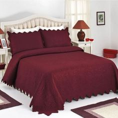 Fiona Burgundy Bed Cover Set