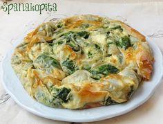 Todo el sabor de Grecia en el pastel salado Spanakopita, de espinacas y queso…