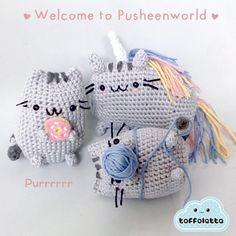 Welcome to Pusheenworld!! Purrrr.... Pusheen the cat cute amigurumi by Toffoletta