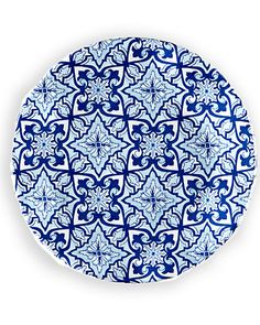 Rue La La — NYC Set of 4 Talavera in Azul 5.5in Melamine Bread & Butter Plates