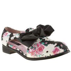 6025538e8f1f womens iron fist black   pink buns n roses oxford flats