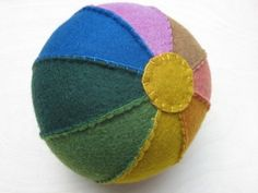 toddlers aren't the only ones who wd. like these rainbow colored felt balls!