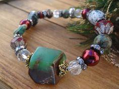 Chrysoprase Bracelet Christmas Bracelet Mixed by FeminineGenius
