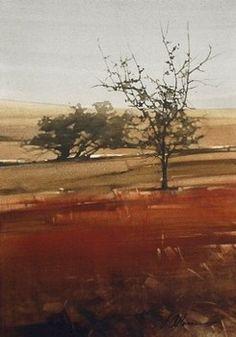 "2008, Misty Trees by Joseph Alleman Watercolor ~ 14"" x 10"""