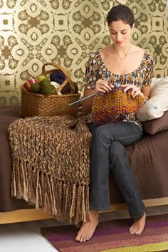 6-Hour Afghan: free knitting pattern