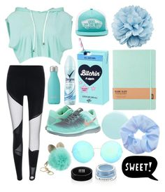 """""""// gym // blue //"""" by alltimecharis ❤ liked on Polyvore featuring Swell, NIKE, Degree, Vans, JINsoon, Givenchy, Victoria Beckham, Gucci and ESPRIT"""