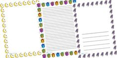 Printable eid card page border design 2014