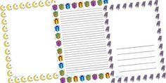 Printable eid card page border design 2014