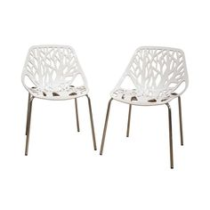 The Birch Sapling Plastic Accent / Dining Chair lends a modern touch of the beauty of a birch tree to your home.