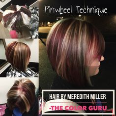 Pinwheel technique done by Meredith Miller in Bossier City!