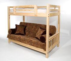 awesome queen futon bunk bed unique designs