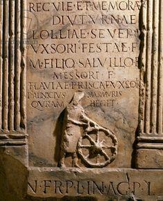 Stele depicting the wagon builder, Quinto Minicio Fabbro, Roman Civilisation, 2nd century