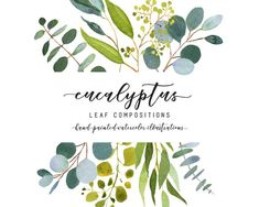 Eucalyptus wedding clip art by AnnelyBlooms on Watercolor Leaf, Watercolor And Ink, Watercolor Flowers, Watercolor Paintings, Watercolours, Pencil Illustration, Watercolor Illustration, Business Illustration, Graphic Illustration