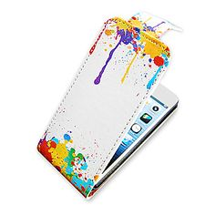 Peinture à l'huile Up-Down Turn Over cas Bady complet PU en cuir pour iPhone 5/5S – USD $ 6.99