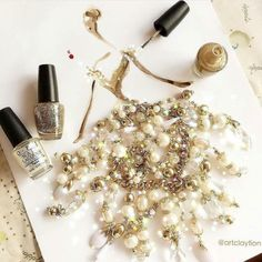 Nail polish on paper by Fashion Design Sketches, Sketch Design, Opi, Glitter Bath Bomb, Nail Time, Jewellery Sketches, Nail Art, Glitter Nail Polish, Mode Chic