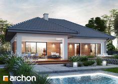 Dom w żonkilach (G2) - atrakcyjna i funkcjonalna parterówka #parterówka #projektdomu #garaż #poddasze #taras #domowypl