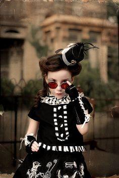 Steampunk little girl.