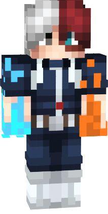 Skin minecraft todoroki 53 ideas for 2019 Minecraft Skins Male, Minecraft Skins Kawaii, Capas Minecraft, Minecraft Skins Aesthetic, Minecraft Anime, Cool Minecraft, Minecraft Buildings, Minecraft Skins With Masks, Minecraft Crafts